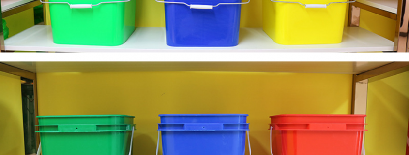 square plastic buckets for sale