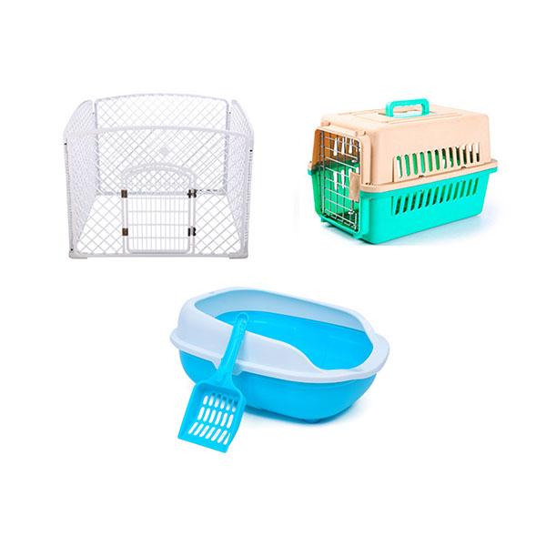 dog playpen cat carrier cat litter box