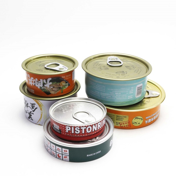 food grade 2-pcs 3 pcs tin cans pressit tin cans with sticker lable
