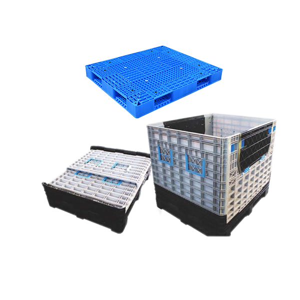 plastic pallets and vented foldable plastic pallet box