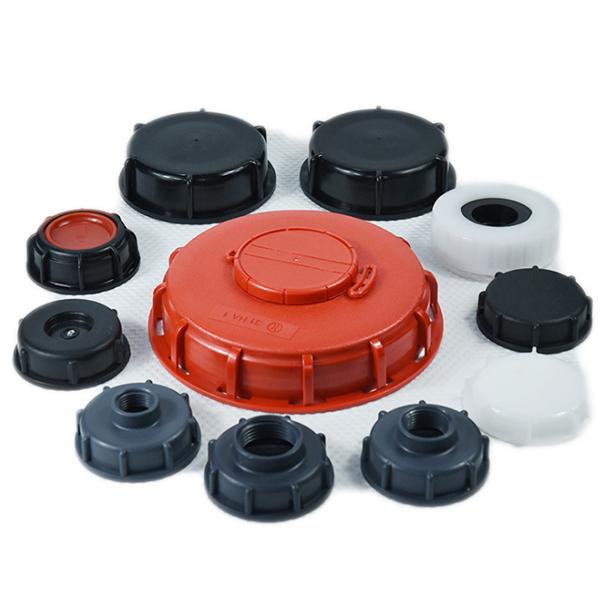 qiming packaging 1000 L IBC lids covers adpters vlave caps
