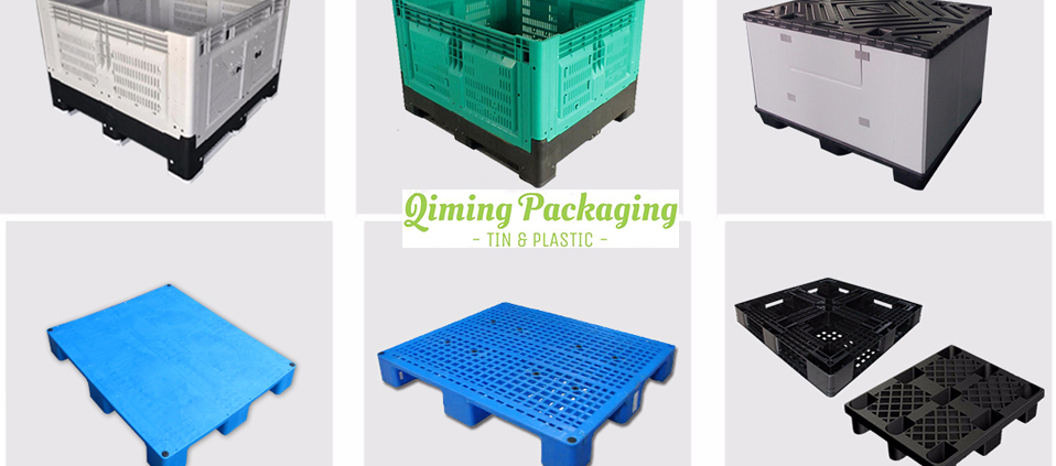 vented foldable plastic pallet box