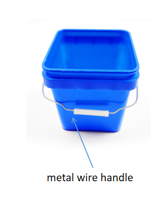 square plastic buckets with lids for sale