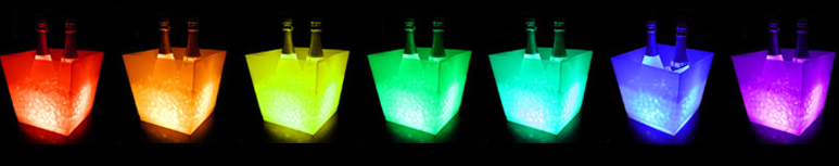 nitht bar LED buckets
