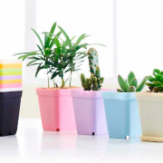 desktop plastic square flower pots