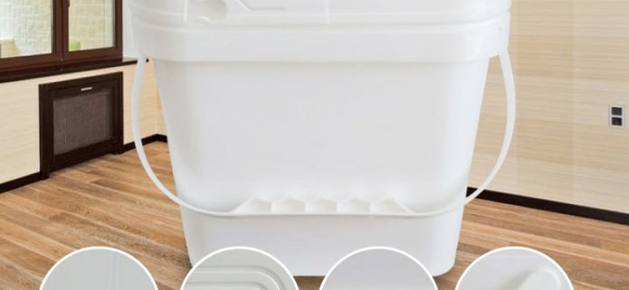 square plastic buckets with lids wholesale