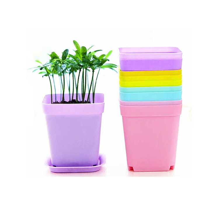 square plastic flower bucket flower pot
