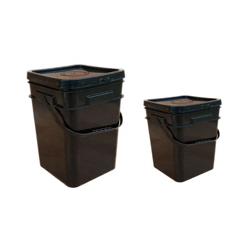 plastic square buckets with lids