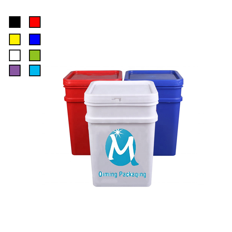 square plastic buckets pails with lids and handles for sale