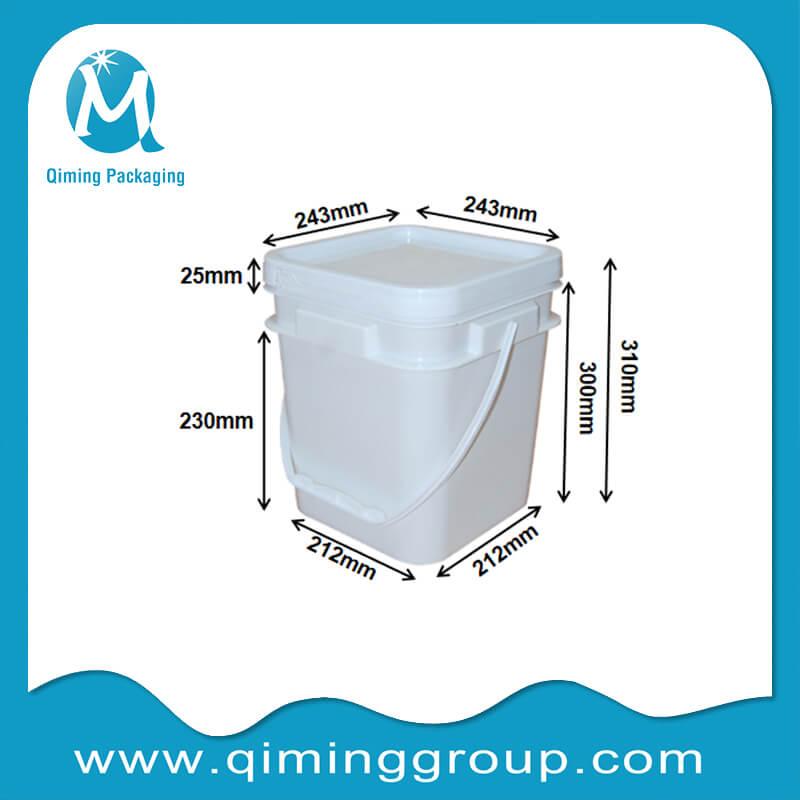 12L square bucket