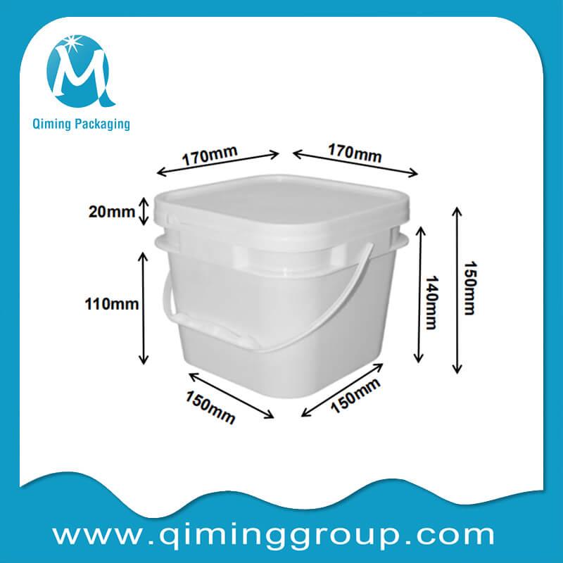 2.8L square bucket