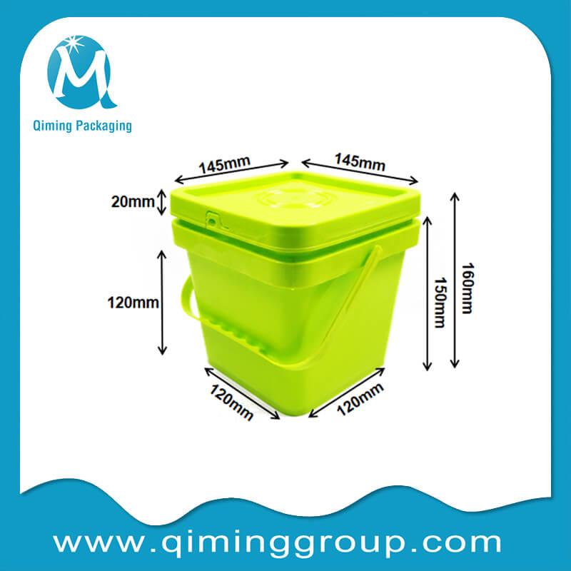 2L square bucket