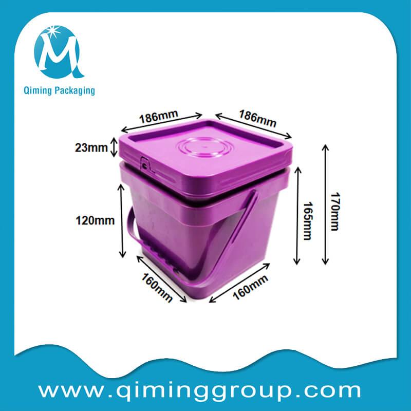 4L square bucket