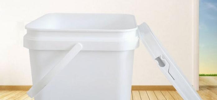 square plastic buckets pails for sale