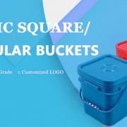 square buckets pails