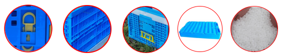 plastic folding storage crates