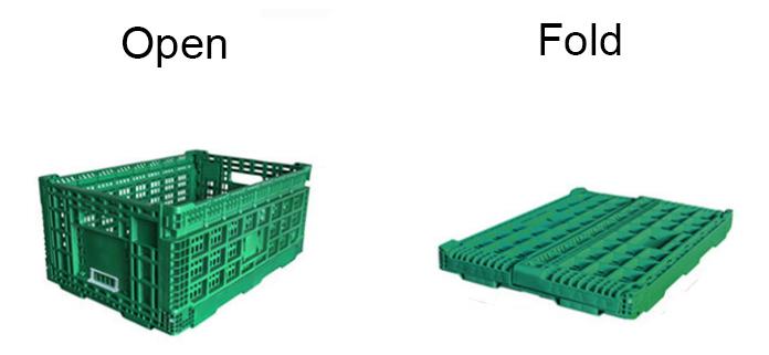 plastic collapsible storage bin basket