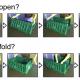 foldable plastic basket