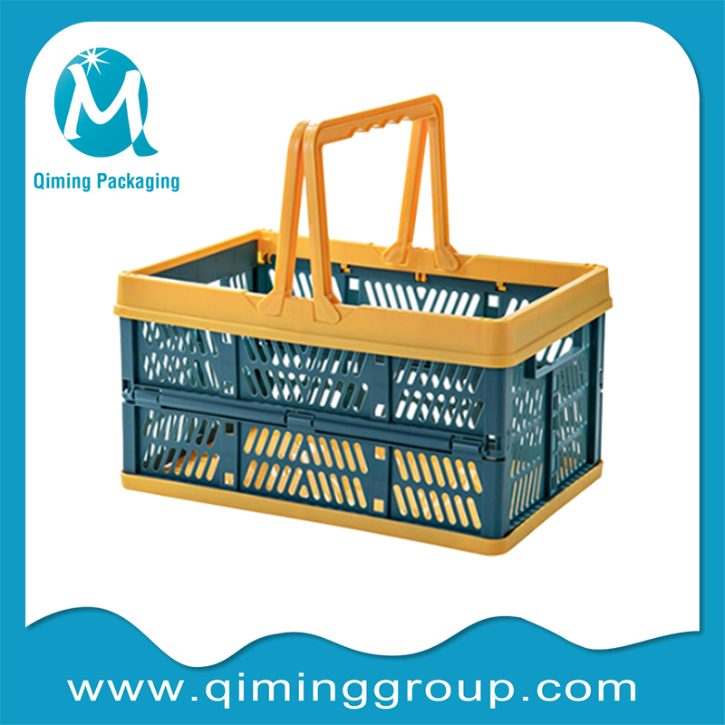 collapsible plastic baskets for supermarket