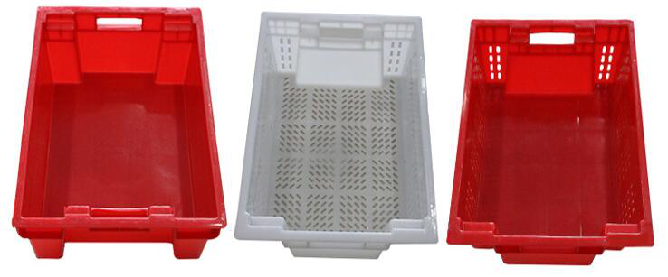 180° stackable and nestable Plastic turnover basket