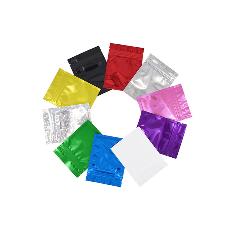 flat plastic zipper bags