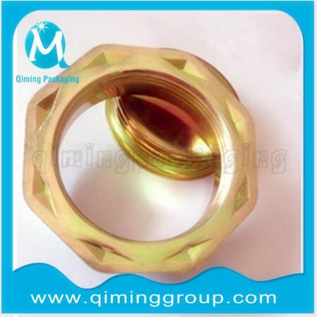 Octagonal-base-drum-flange-new-design-yellow-zinc-plated