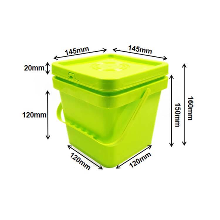 2L square buckets