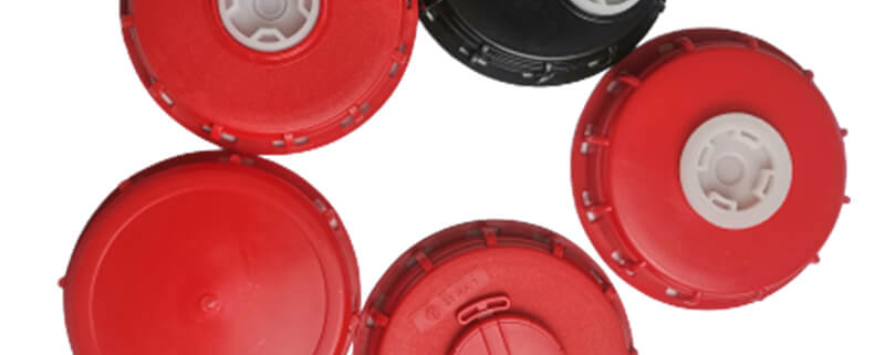 6 Inch 160mm IBC Lids With 2 inch Plugs Vented Caps Closure