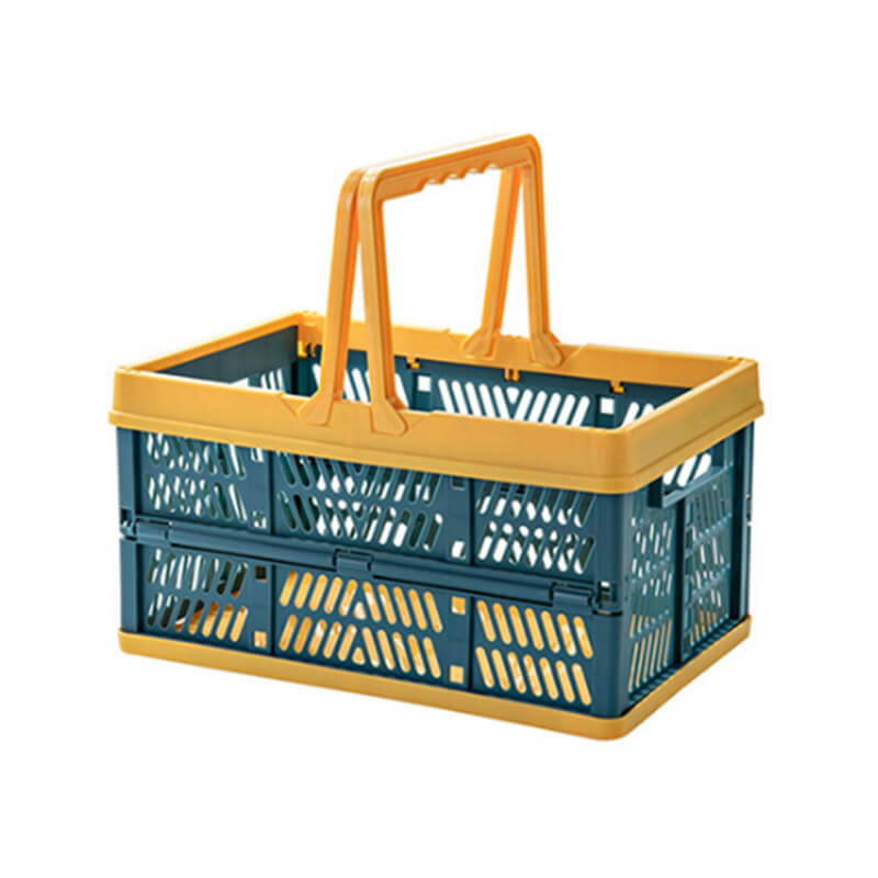 Plastic collapsible baskets for supermarket and picnic