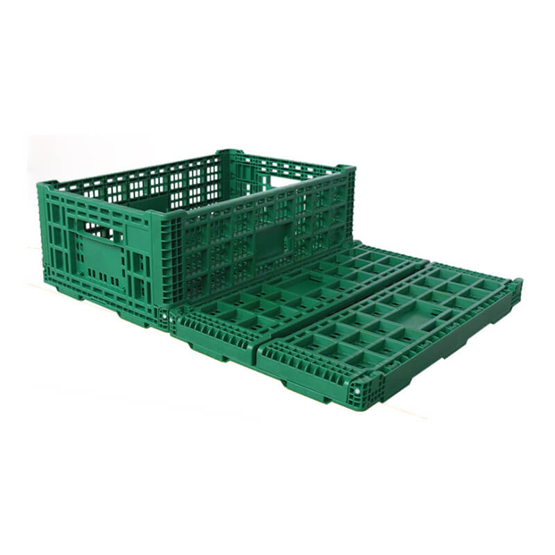 Rectangular plastic collapsible baskets for turnover