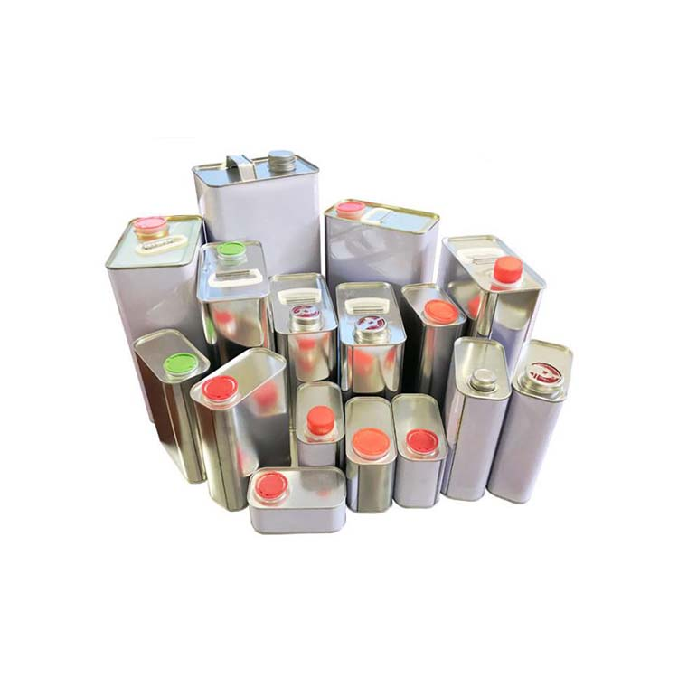 Rectangle & Square Tinplate Cans for chemical industry