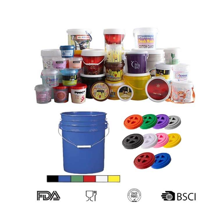 round buckets pails with lids gamma buckets with lids