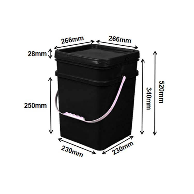 square buckets (18L)