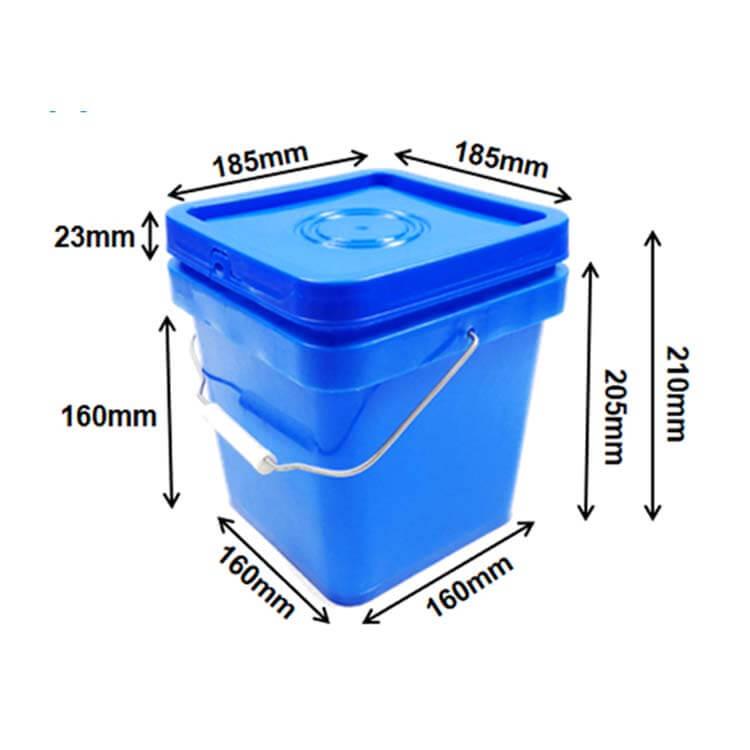 square buckets 5l