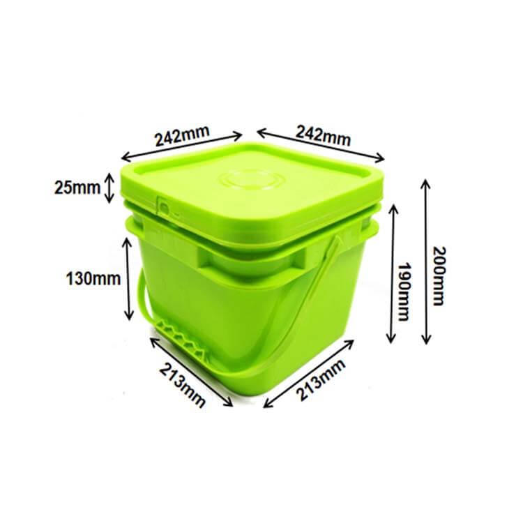 square buckets 8L