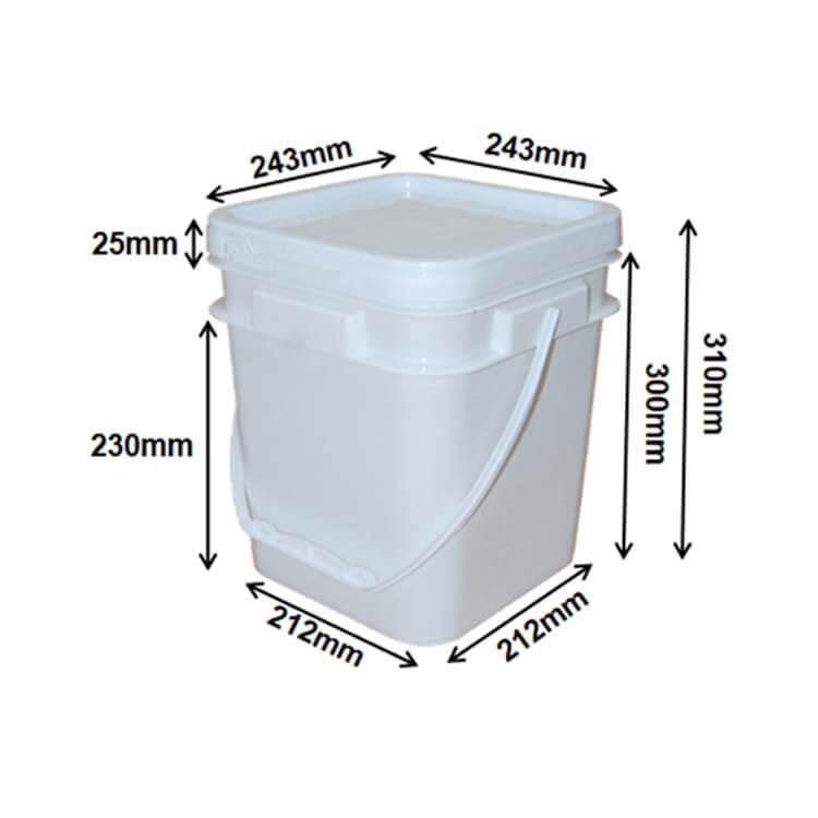square buckets 12L